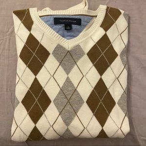 Tommy Hilfiger oversized argyle pattern sweater